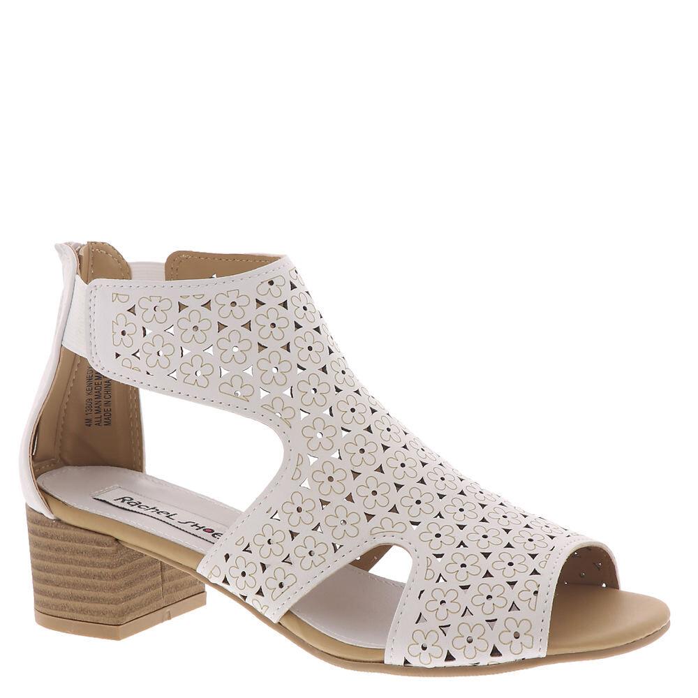 Rachel Shoes Kennedy Girls' Toddler-Youth White Sandal 12 Toddler M
