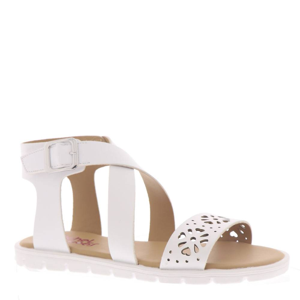 Rachel Shoes Jessica Girls' Toddler-Youth White Sandal 3 Youth M
