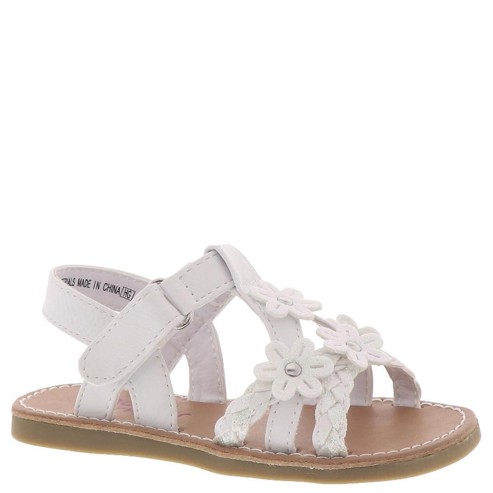Rachel Shoes Amalfi Girls' Toddler White Sandal 12 Toddler M