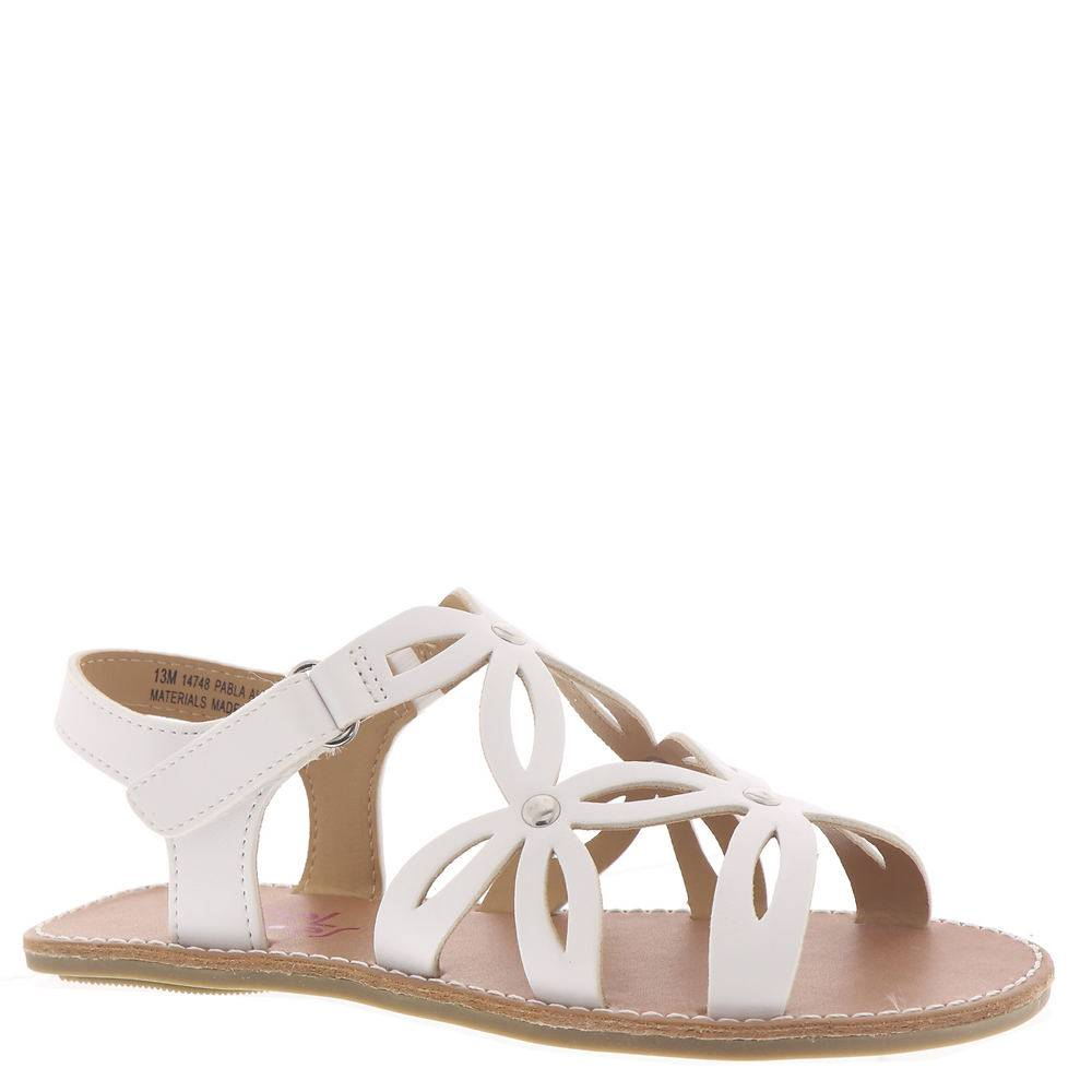 Rachel Shoes Pabla Girls' Toddler-Youth White Sandal 2 Youth M