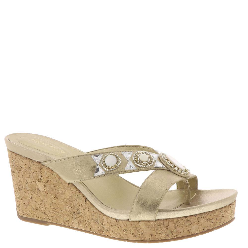 Kenneth Cole Reaction Card Glam Women's Gold Sandal 9.5 M