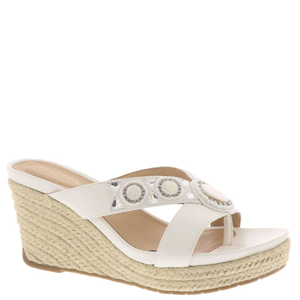 Kenneth Cole Reaction Card Glam Women's White Sandal 9 M