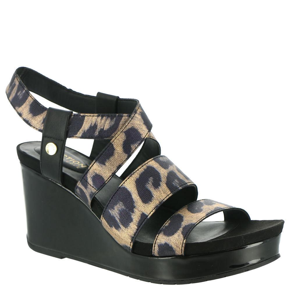 Kenneth Cole Reaction Card Elastic Wedge Women's Multi Sandal 7 M