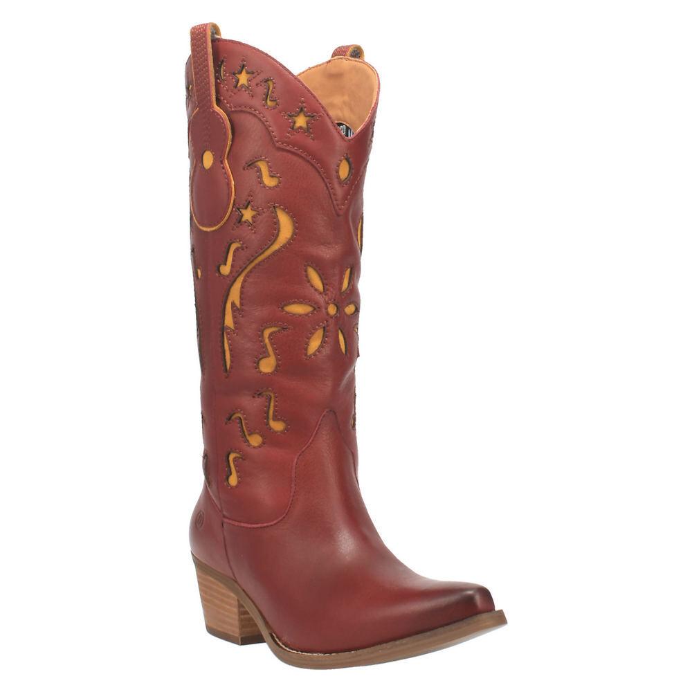 Dingo Music City Women's Red Boot 8.5 M