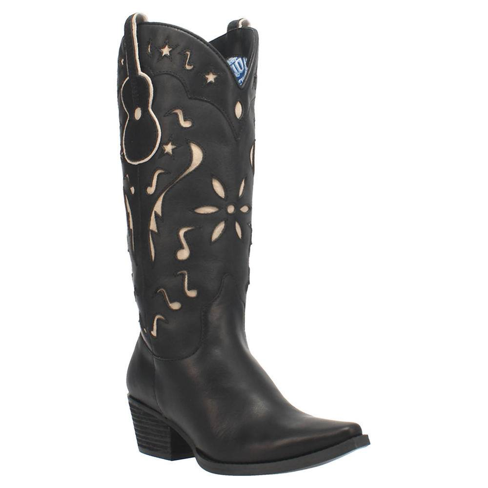Dingo Music City Women's Black Boot 8 M