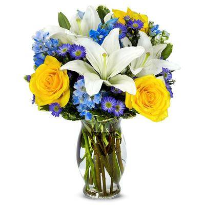 From You Flowers Flowers Delivery - Blue Skies Bouquet - Regular
