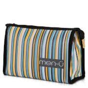 men-u men-ü Stripes Toiletry Bag – Grey/Blue/Yellow