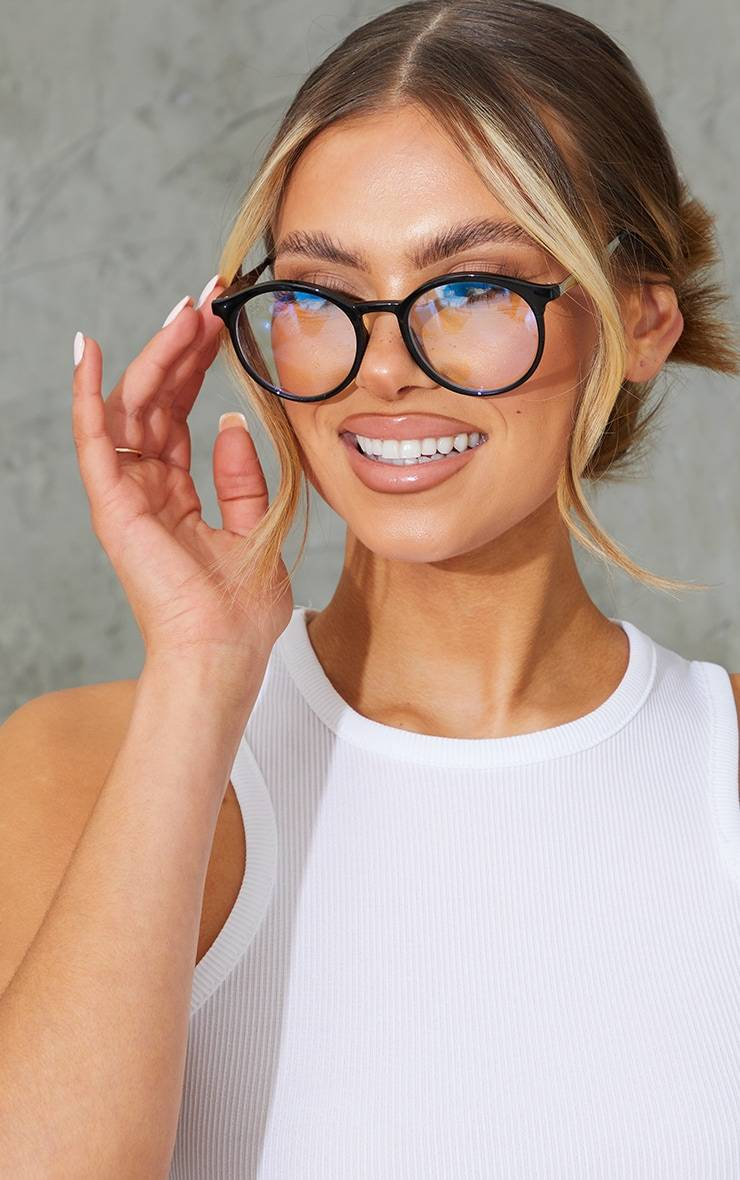 PrettyLittleThing Jeepers Peepers Black Roundframe Readers - Black - Size: One Size