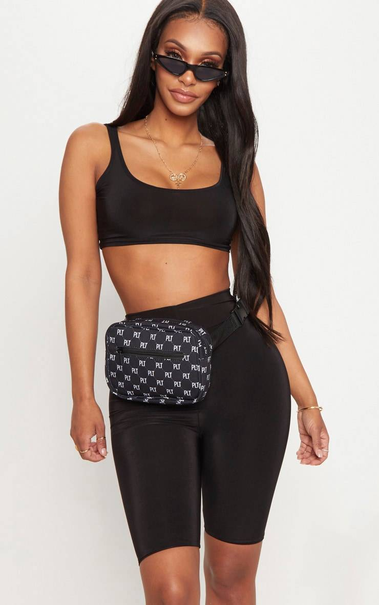 PrettyLittleThing Shape Black Slinky Bike Shorts - Black - Size: 4