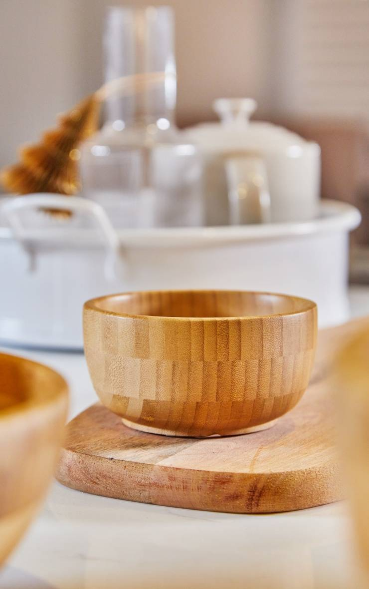 PrettyLittleThing Bamboo Bowl - Natural - Size: One Size