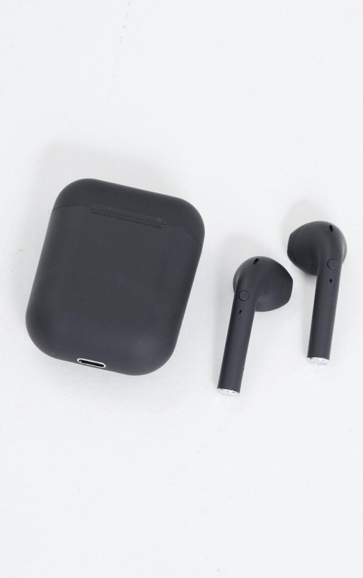 PrettyLittleThing Black Wireless Earphones - Black - Size: One Size