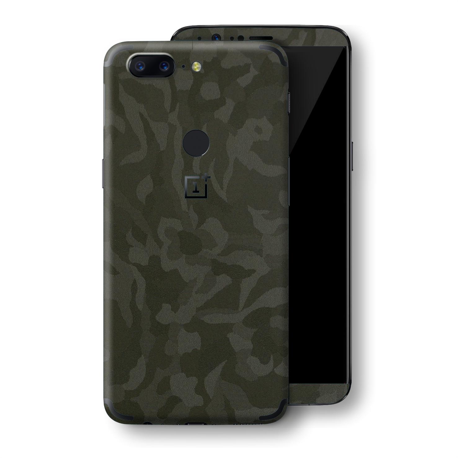 EasySkinz OnePlus 5T Luxuria GREEN Camo 3D TEXTURED Skin