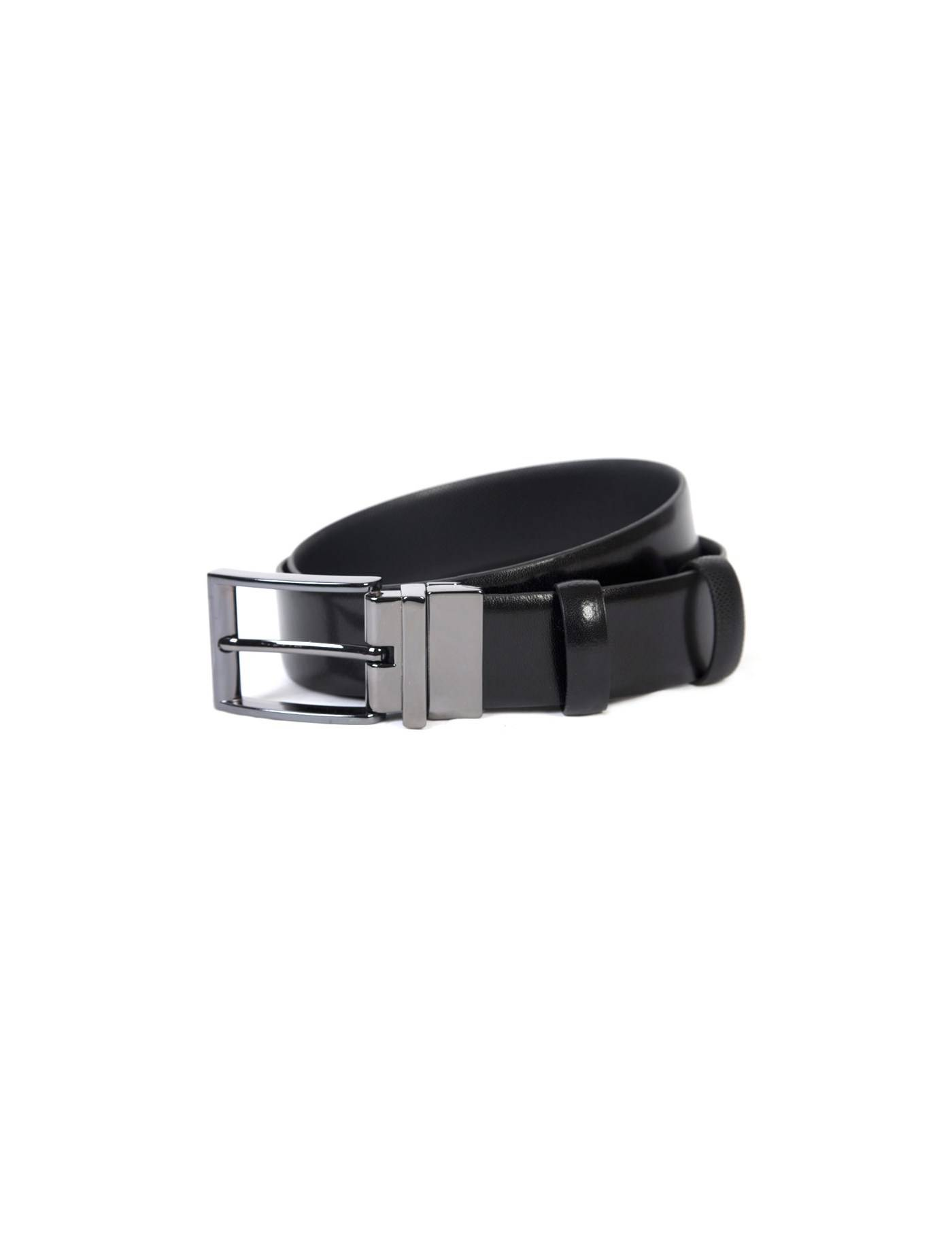 Hawes & Curtis Men's Textured Reversible Leather Belt in Black XL