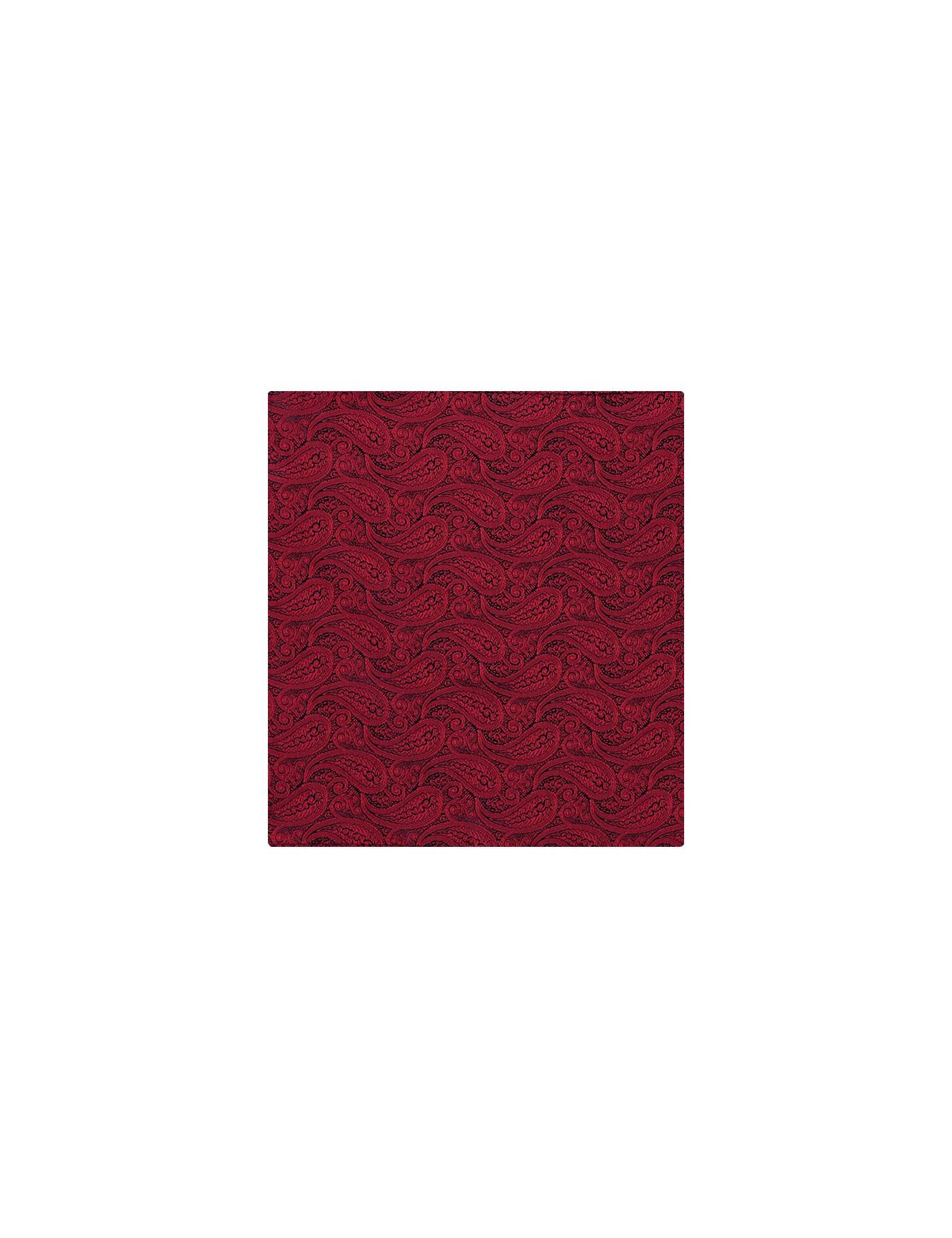 Hawes & Curtis Men's Paisley Pocket Square in Red 100% Silk