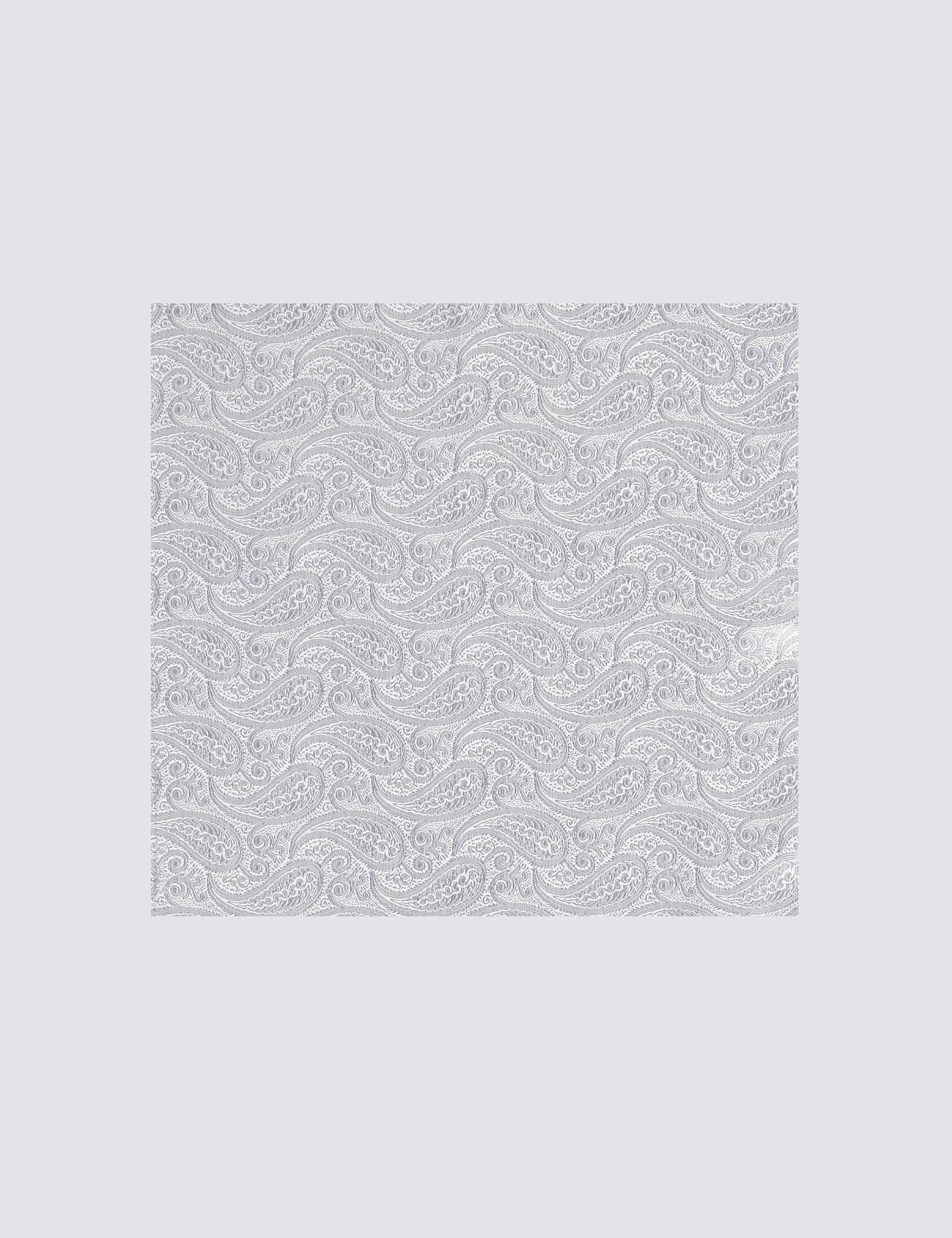 Hawes & Curtis Men's Paisley Pocket Square in Silver 100% Silk Hawes & Curtis