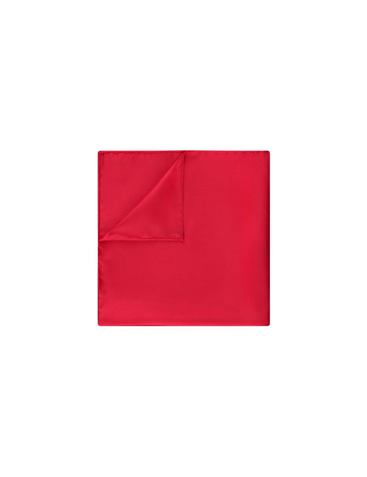 Hawes & Curtis Men's Pocket Square in Red 100% Silk Hawes & Curtis