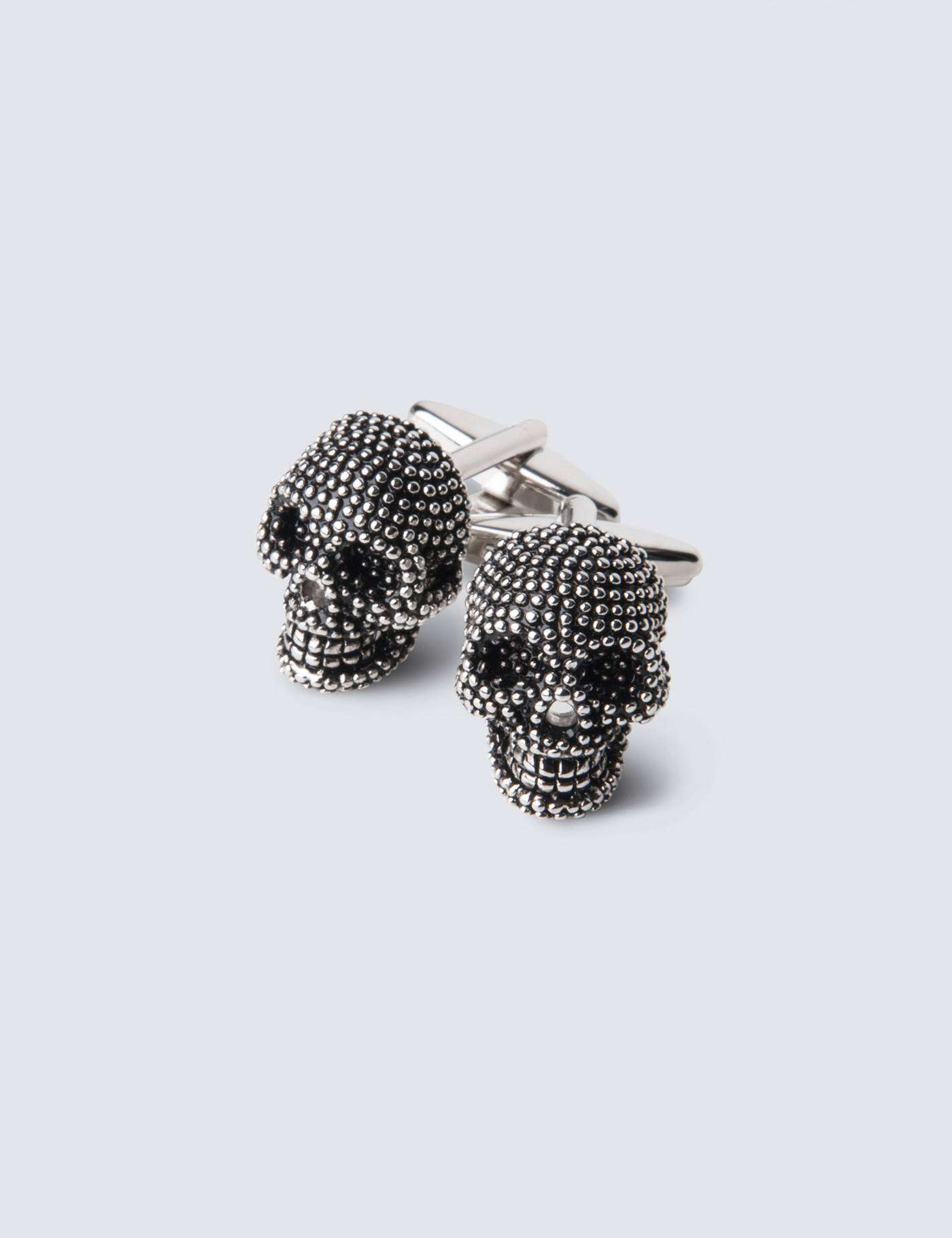 Hawes & Curtis Men's Skull Cufflink in Silver Hawes & Curtis