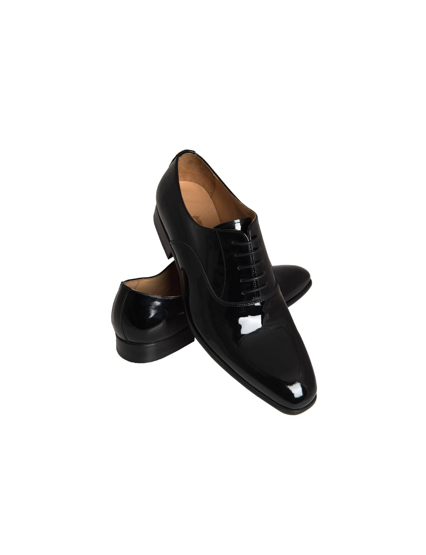Hawes & Curtis Men's Patent Lace Up Dress Shoes in Black Size 9.5 Leather Hawes & Curtis