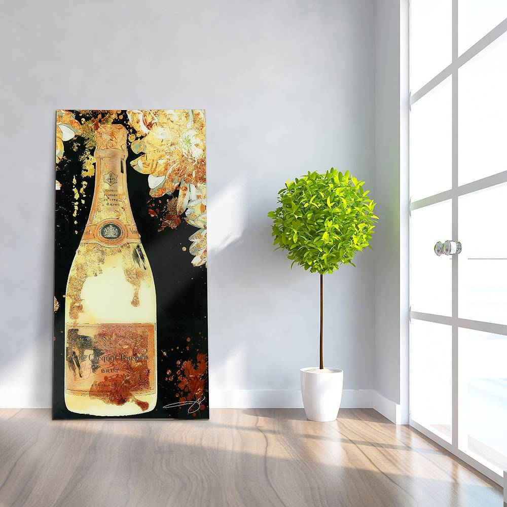 "Universal Lighting and Decor Let's Celebrate 72"" High Frameless Tempered Glass Wall Art - Style # 65J02"