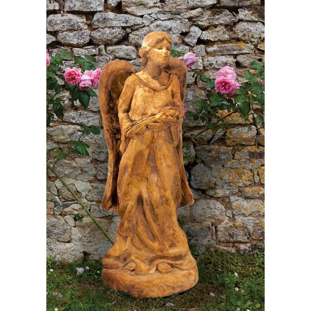 "Henri Studio Garden Angel 18"" High Relic Lava Outdoor Statue - Style # 26201"
