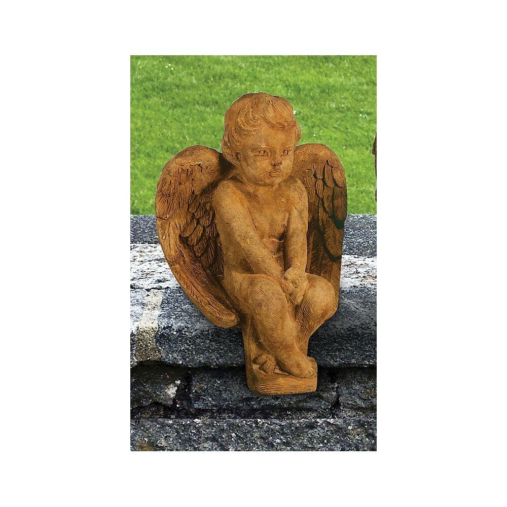 "Henri Studio Angel 12"" High Relic Lava Outdoor Garden Statue - Style # 26326"