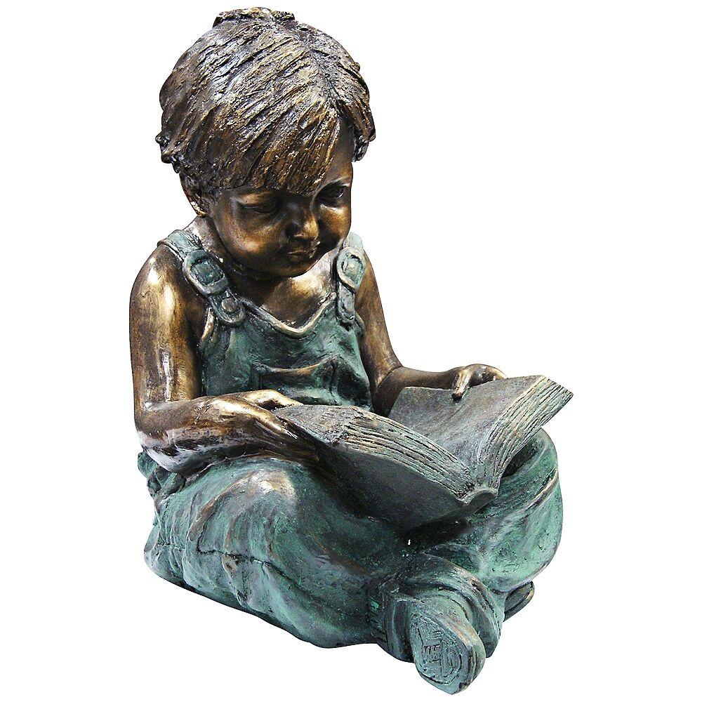 "Alpine Boy Reading 19"" High Outdoor Statue - Style # 2M655"