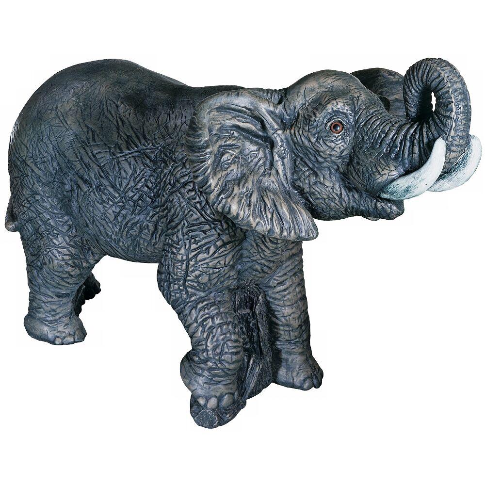 "Stonecasters Henri Studio Elephant 20"" High Outdoor Garden Accent - Style # 32108"