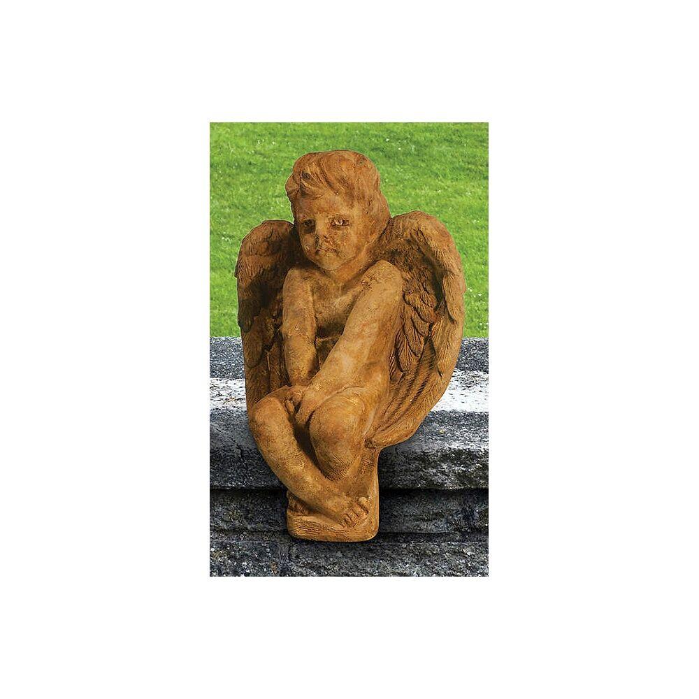 "Henri Studio Angel 16"" High Relic Lava Outdoor Garden Statue - Style # 36706"