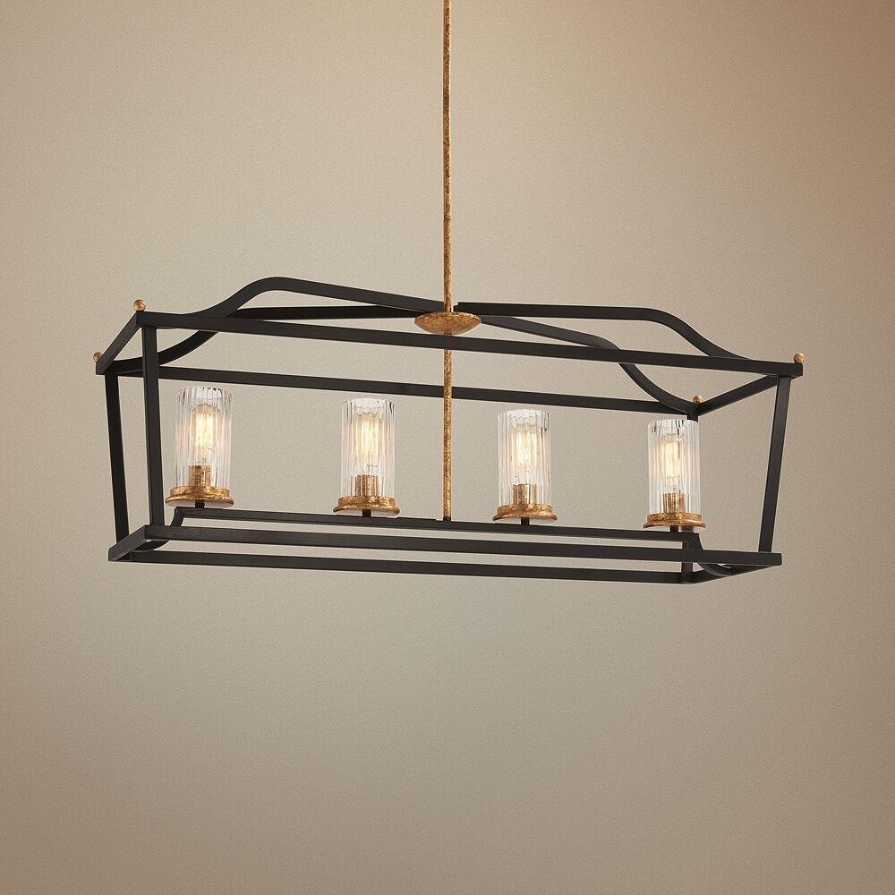 "Minka Lavery Posh Horizon 40 1/4"" Wide Black Kitchen Island Light Pendant - Style # 58G25"