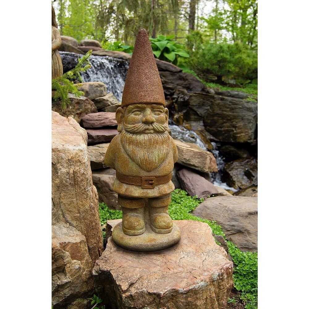 "Henri Studio Ziggy the Gnome 29"" High Relic Hi-Tone Outdoor Statue - Style # 70C78"