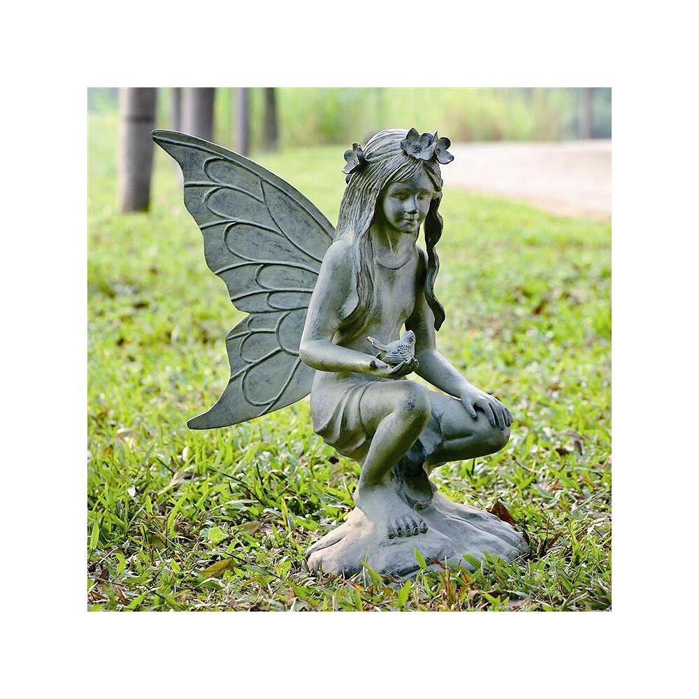 "Universal Lighting and Decor Fairy 26"" High Aluminum Outdoor Garden Statue - Style # 71E54"