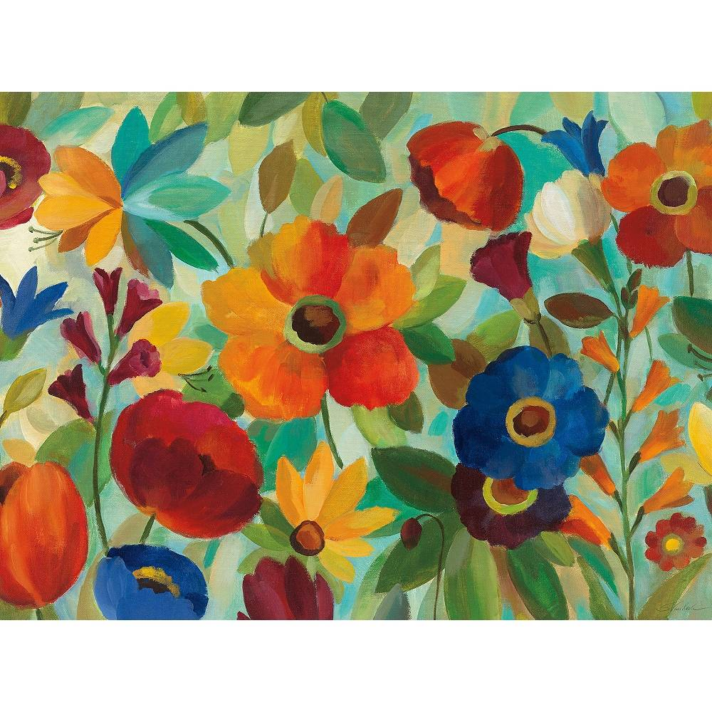 "West of the Wind Jamboree Garden 40"" Wide All-Weather Outdoor Canvas Wall Art - Style # 91W82"