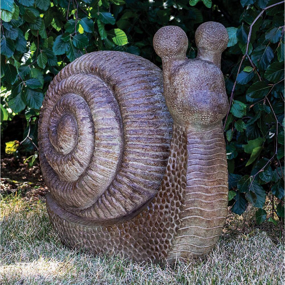 "Henri Studio Garden Snail 24"" Wide Relic Lava Outdoor Statue - Style # 95X52"