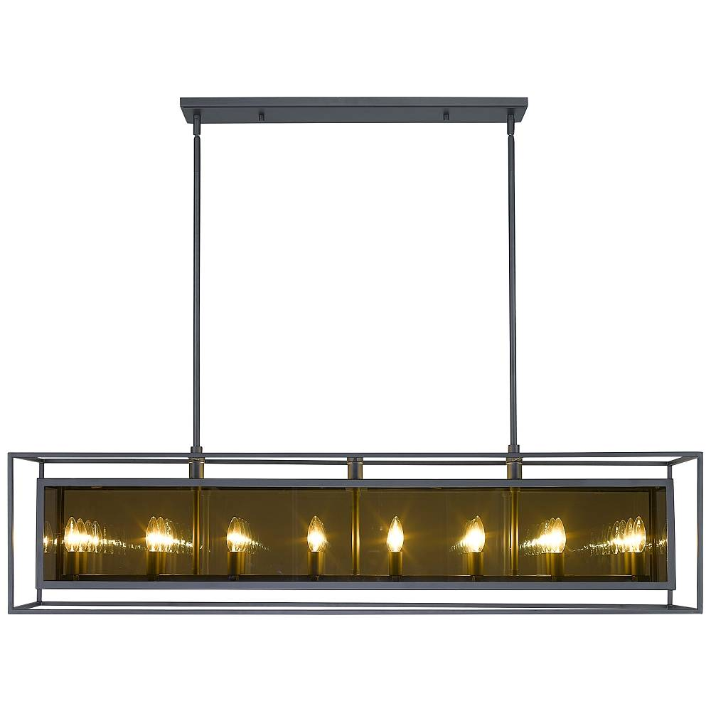 "Universal Lighting and Decor Infinity 11 1/4""W Misty Charcoal 16-Light Kitchen Island Light Pendant - Style # 96F81"
