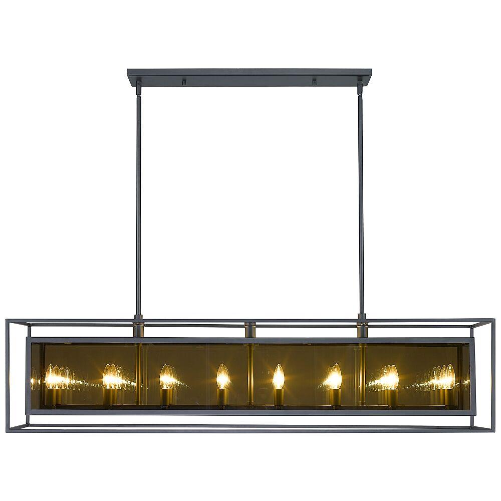 "Universal Lighting and Decor Infinity 11 1/4""W Misty Charcoal 16-Light Kitchen Island Light Pendant - Style # 96F81"