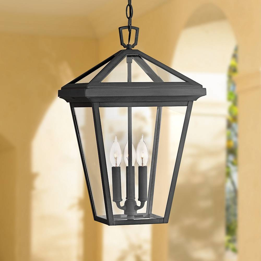 """Hinkley Alford Place 19 1/2"""" High Museum Black Outdoor Hanging Light - Style # 44T51"""
