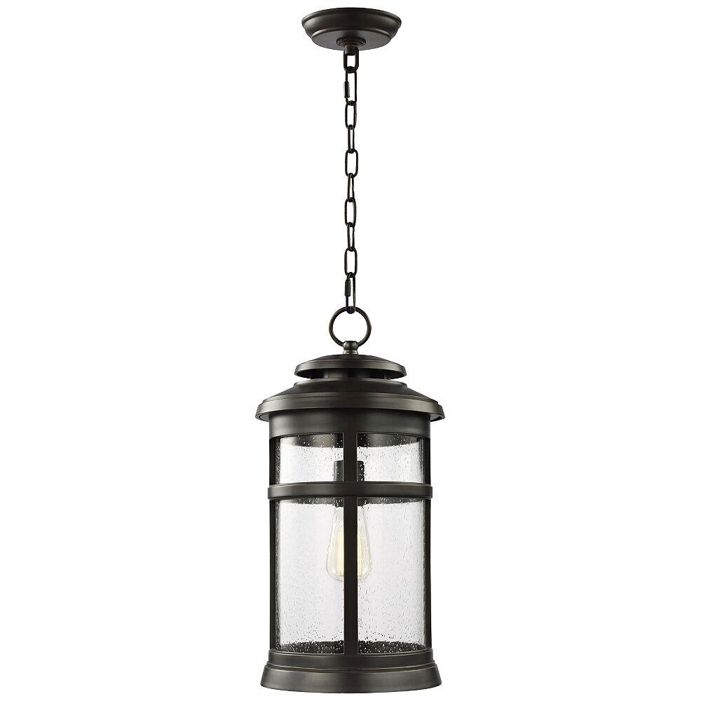 "Feiss Newport 18 1/2""H Antique Bronze Outdoor Hanging Light - Style # 56K91"
