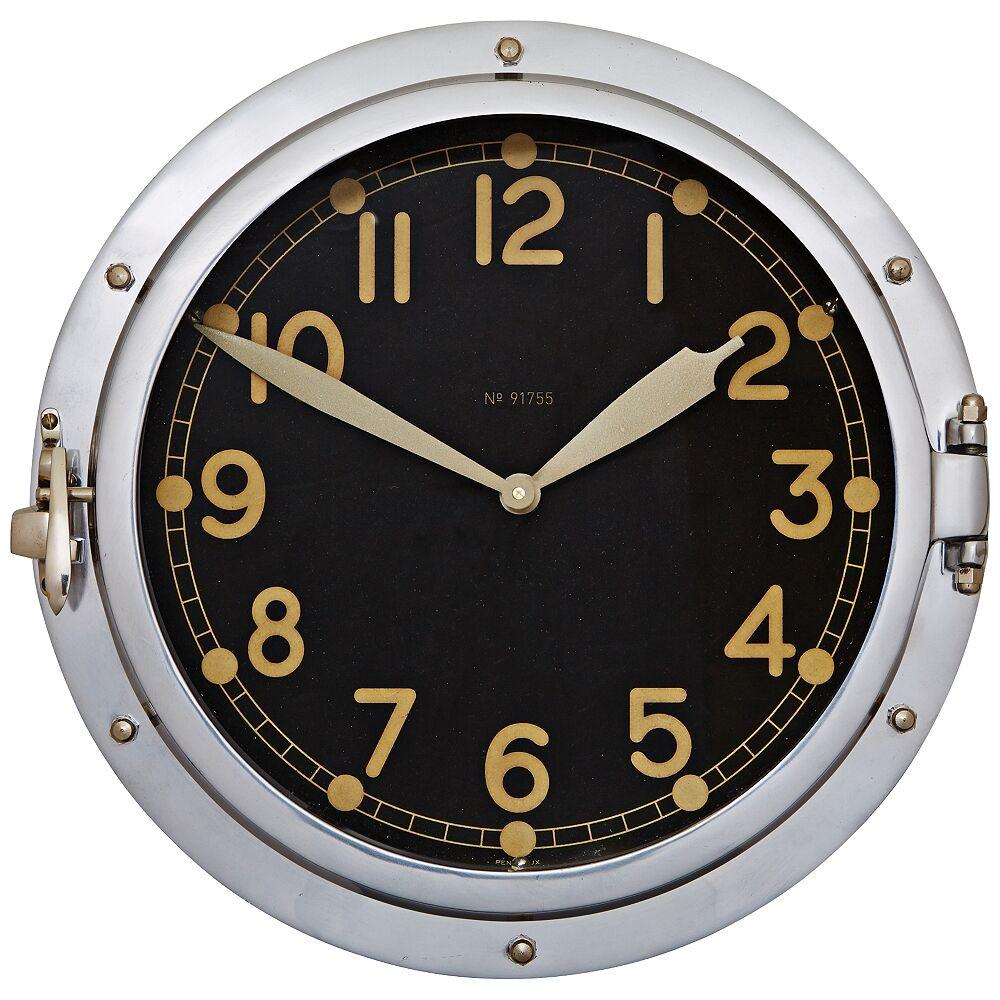 "Universal Lighting and Decor Airship 14 1/2"" High Replica US Military Aviation Wall Clock - Style # 11V68"