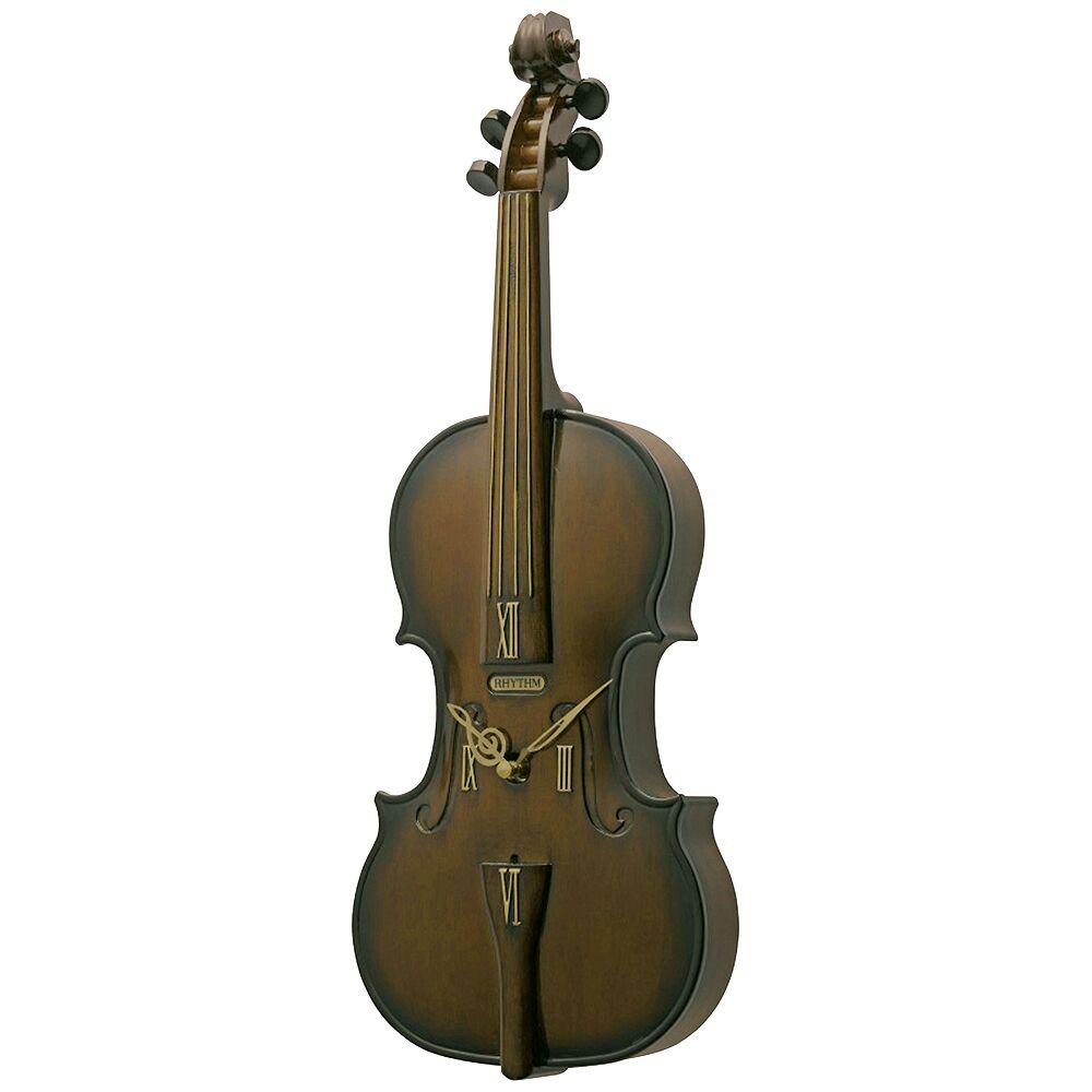 "Rhythm USA Fiddler 19 1/4"" High Windsor Cherry Wall Clock - Style # 44E67"