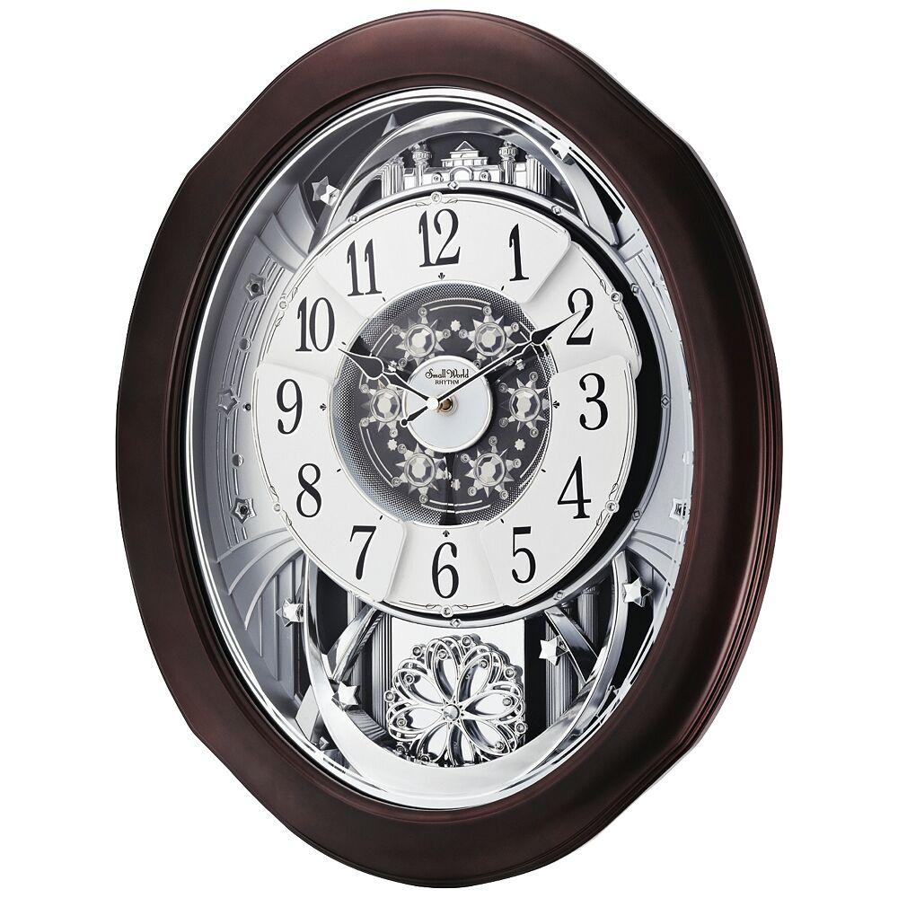 """Rhythm USA Anthology Espresso 21"""" High Motion Wall Clock - Style # 9Y534"""