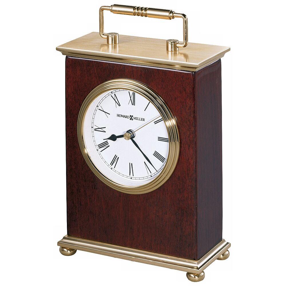"""Howard Miller Rosewood Bracket  8 1/4"""" High Tabletop Clock - Style # R3934"""