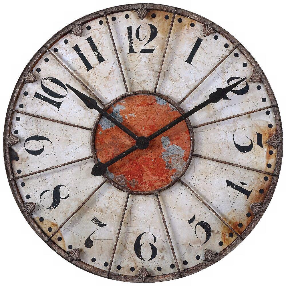"Uttermost Ellsworth 29"" Wide Aged Wall Clock - Style # X8236"