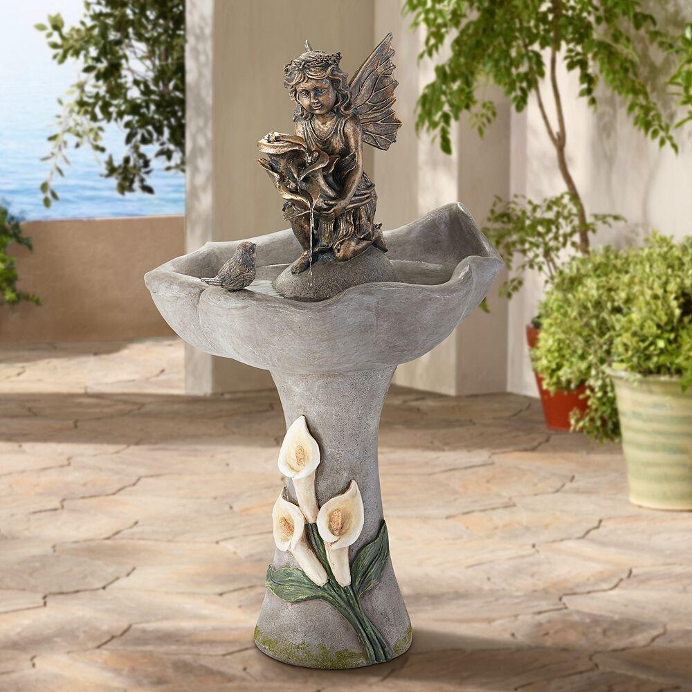 """John Timberland Garden Fairy 34"""" High Stone Indoor-Outdoor Fountain - Style # 21M26"""