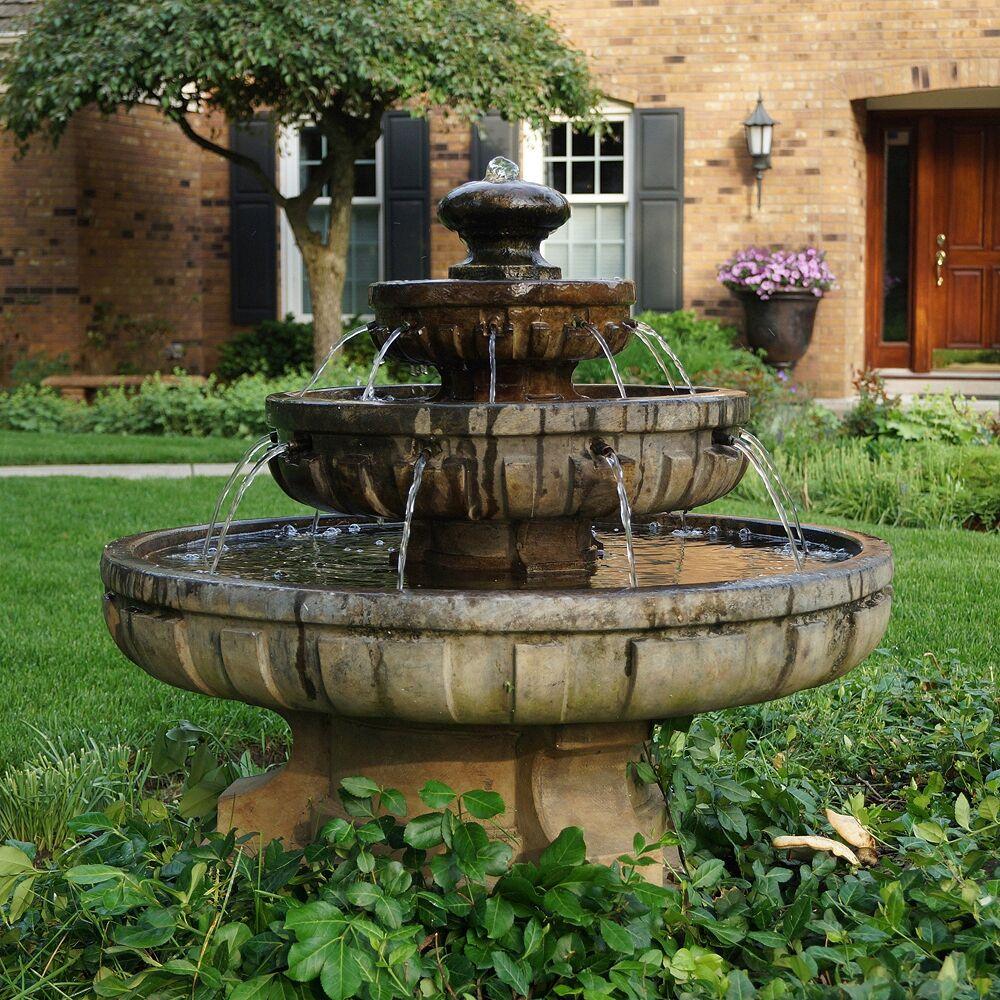 """Henri Studio Regal 33"""" High 3-Tier Traditional Outdoor Garden Fountain - Style # 2K511"""