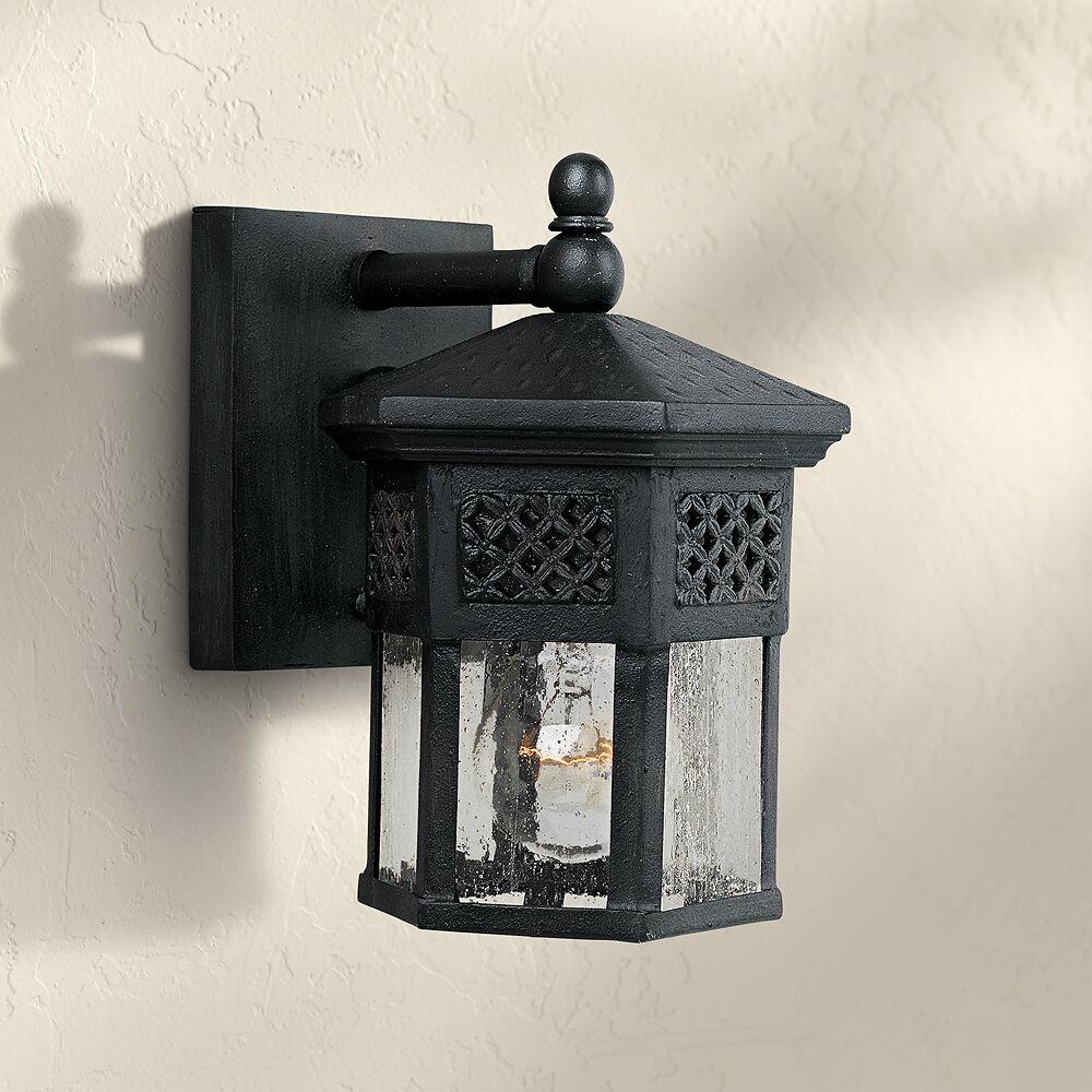 "Maxim Scottsdale 8 1/2"" High Black Outdoor Wall Light - Style # 50294"