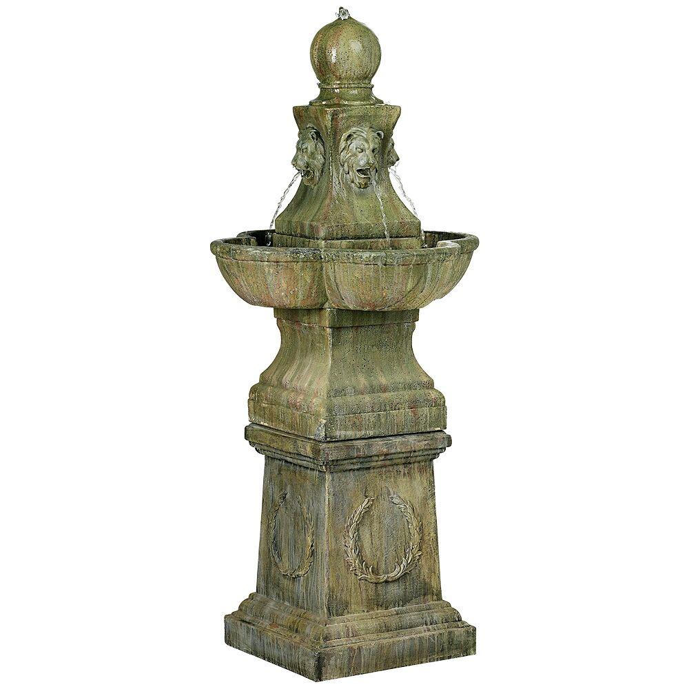 "John Timberland Tuscan Garden Pedestal 54"" High Outdoor Fountain - Style # 60920"