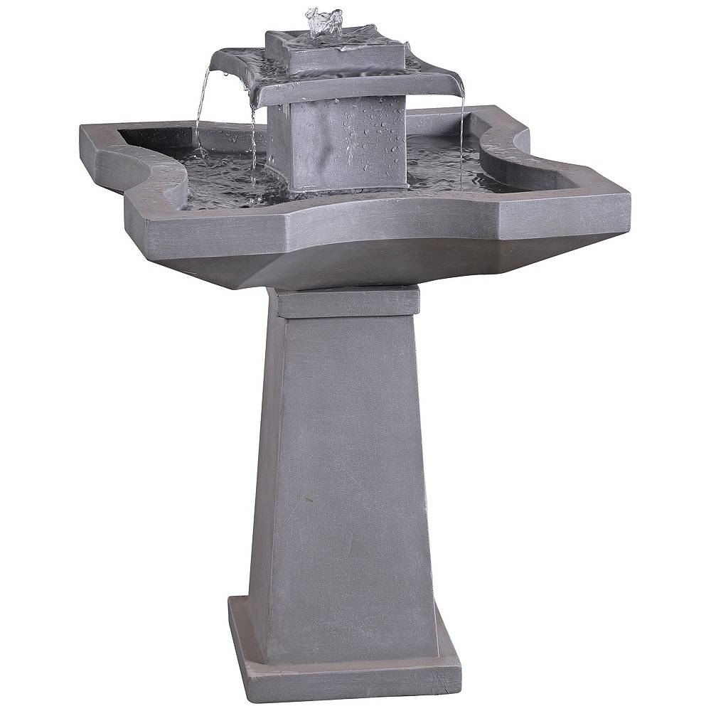 """Kenroy Home Quad 31 1/2""""H Concrete Outdoor Floor Fountain - Style # 66H88"""
