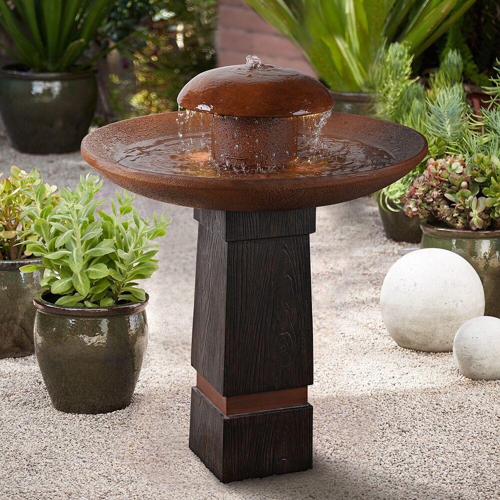 "Kenroy Home Oswego 31 1/2"" High Rustic Modern Rain Fountain with Light - Style # 66K65"