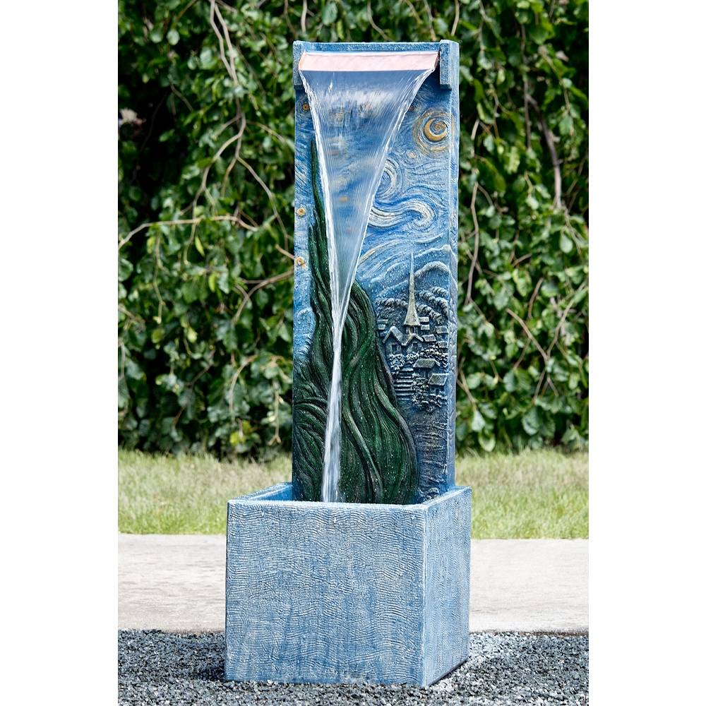 "Henri Studio Starry Night 46"" High Garden Waterfall Fountain with Light - Style # 74W49"