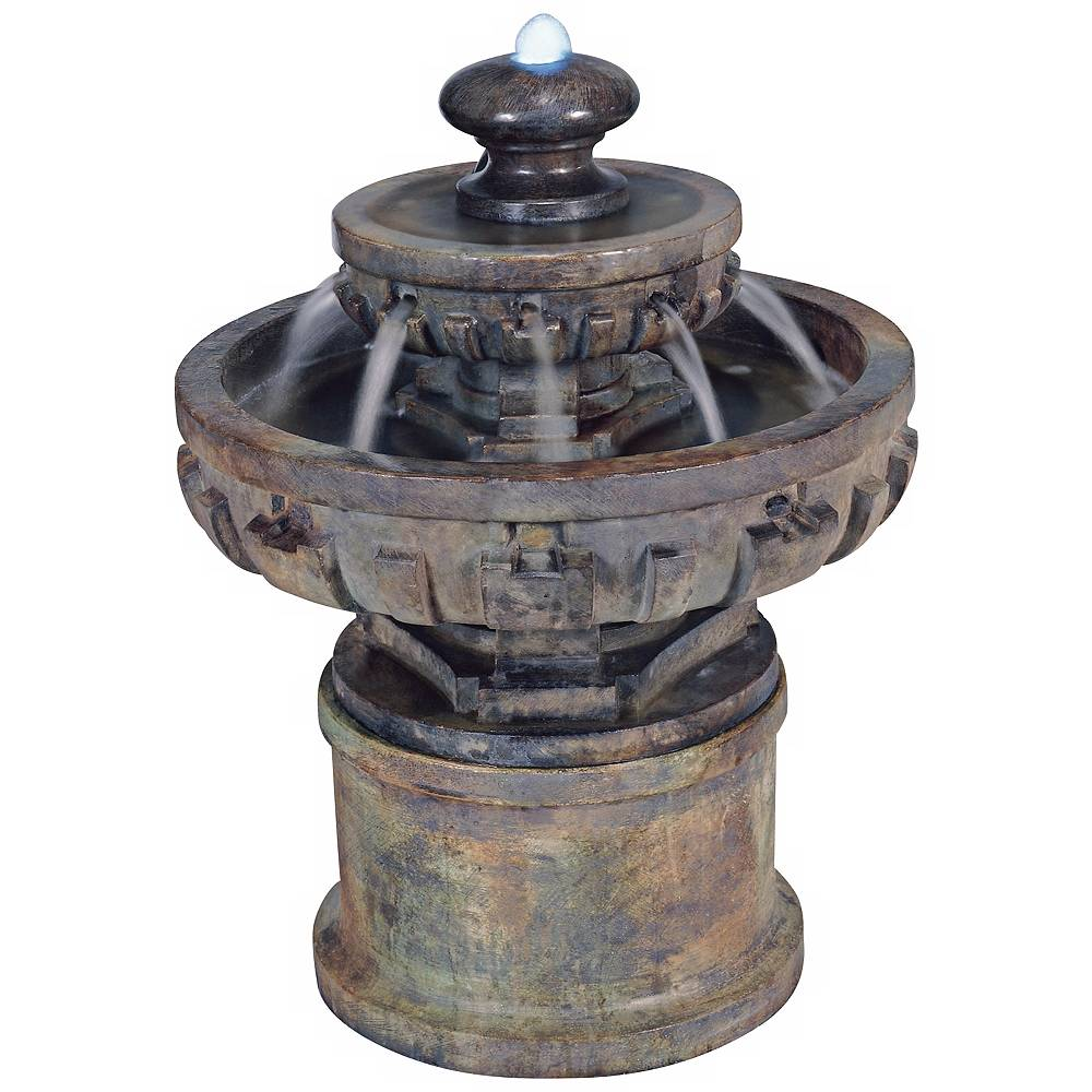 "Universal Lighting and Decor Regal Tier 26 1/2"" High Traditional Garden Fountain - Style # 79496"